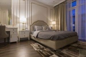 Thi công nội thất biệt thự Tân cổ điển - phòng ngủ 2