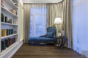 Thi công nội thất biệt thự Tân cổ điển - phòng đọc sách 1