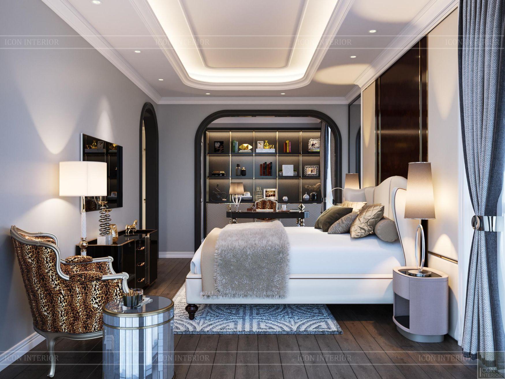 Thiết kế nội thất chung cư 100m2 Opal Tower phòng ngủ