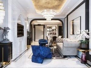 thiết kế căn hộ opal tower- phòng khách