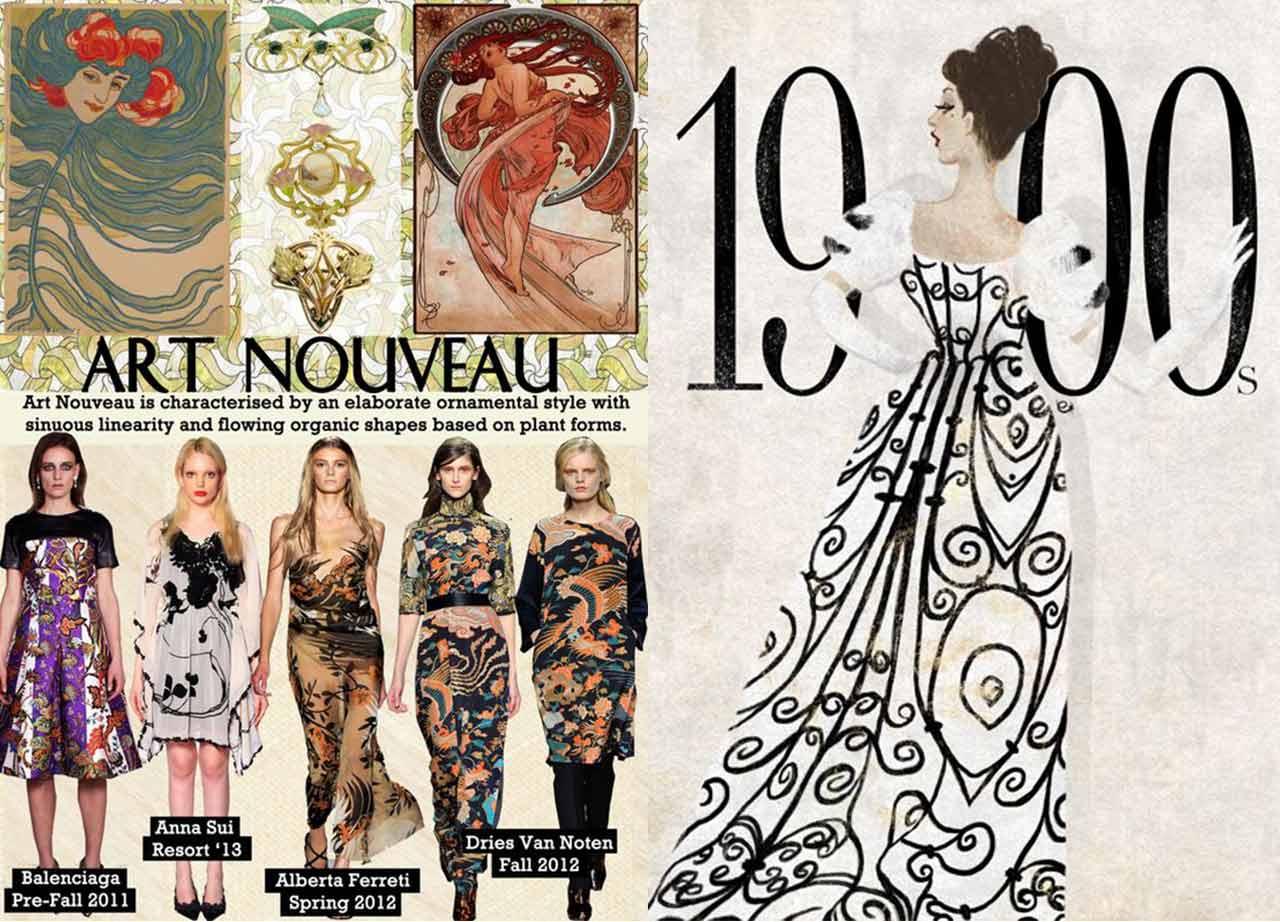 art nouveau trong thời trang