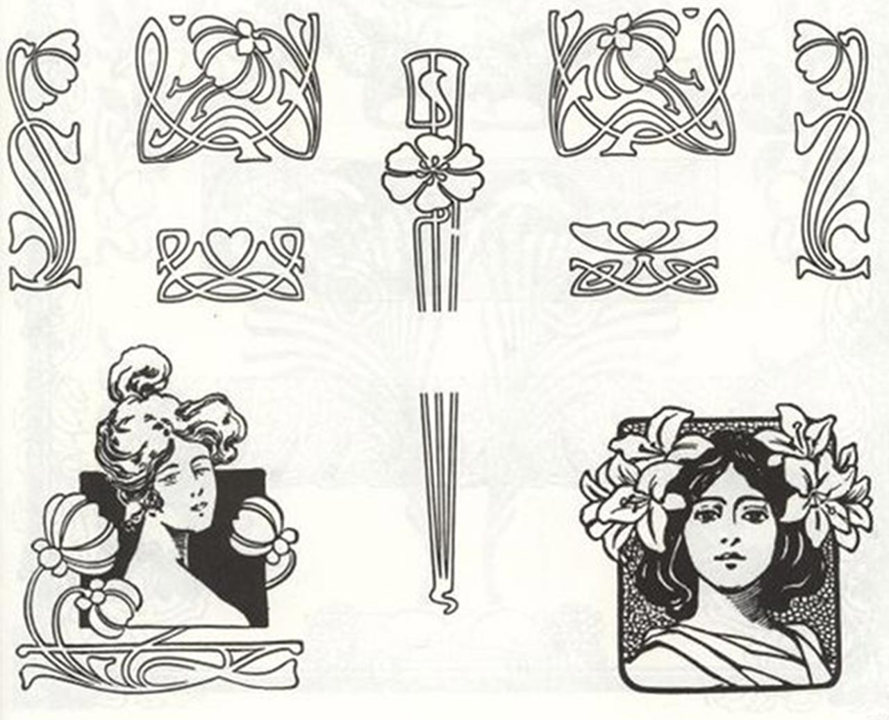 họa tiết art nouveau