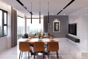 thiết kế nội thất kingdom 101 phòng ăn