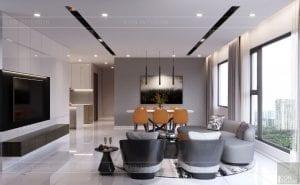thiết kế nội thất kingdom 101 phòng khách