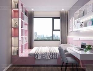 thiết kế nội thất kingdom 101 phòng bé gái