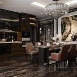 thiết kế căn hộ chung cư - phòng bếp 1
