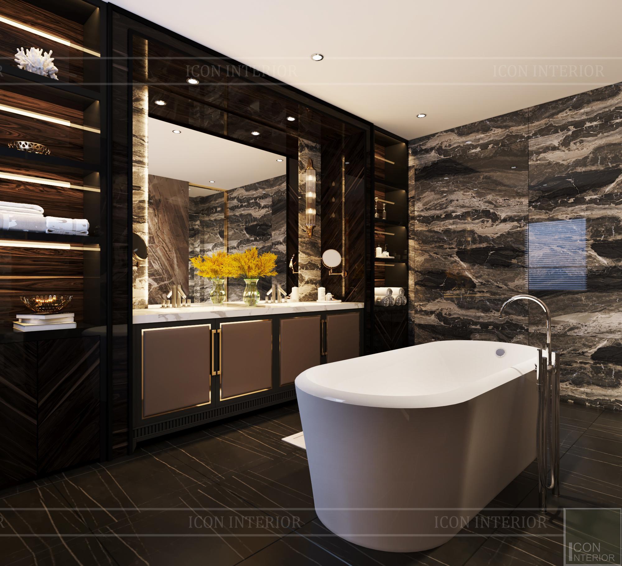 thiết kế căn hộ chung cư - phòng tắm 1