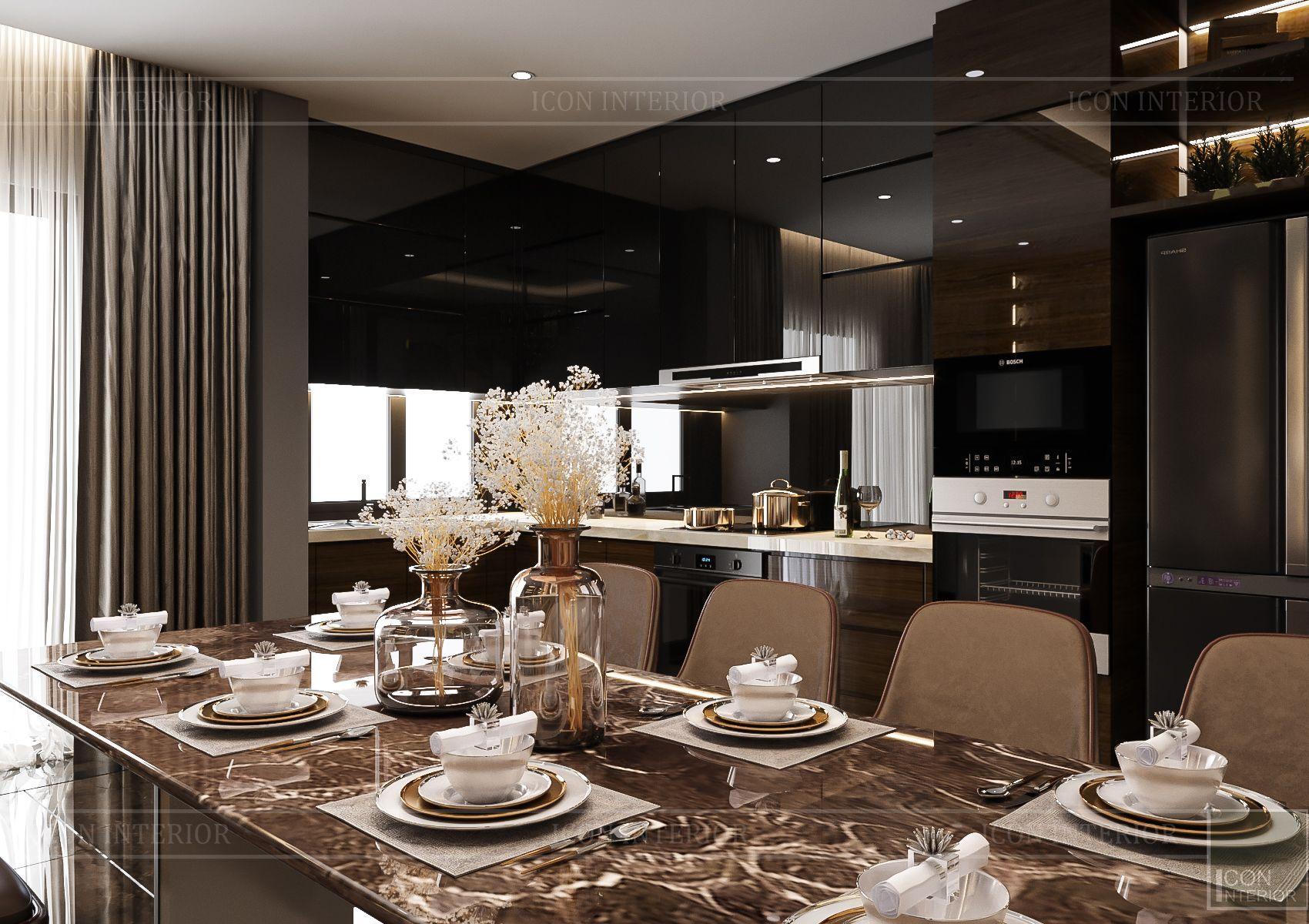 thiết kế căn hộ chung cư - phòng bếp