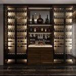 thiết kế căn hộ chung cư - tủ rượu