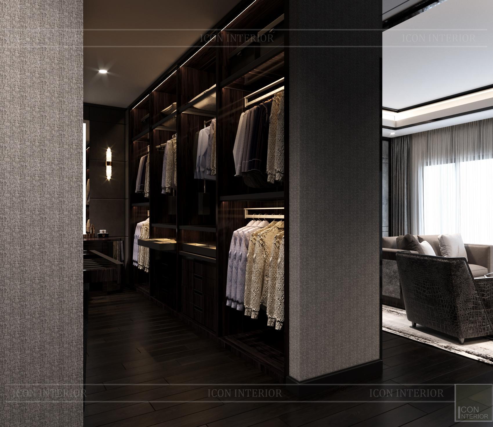 thiết kế căn hộ chung cư - phòng thay đồ 1