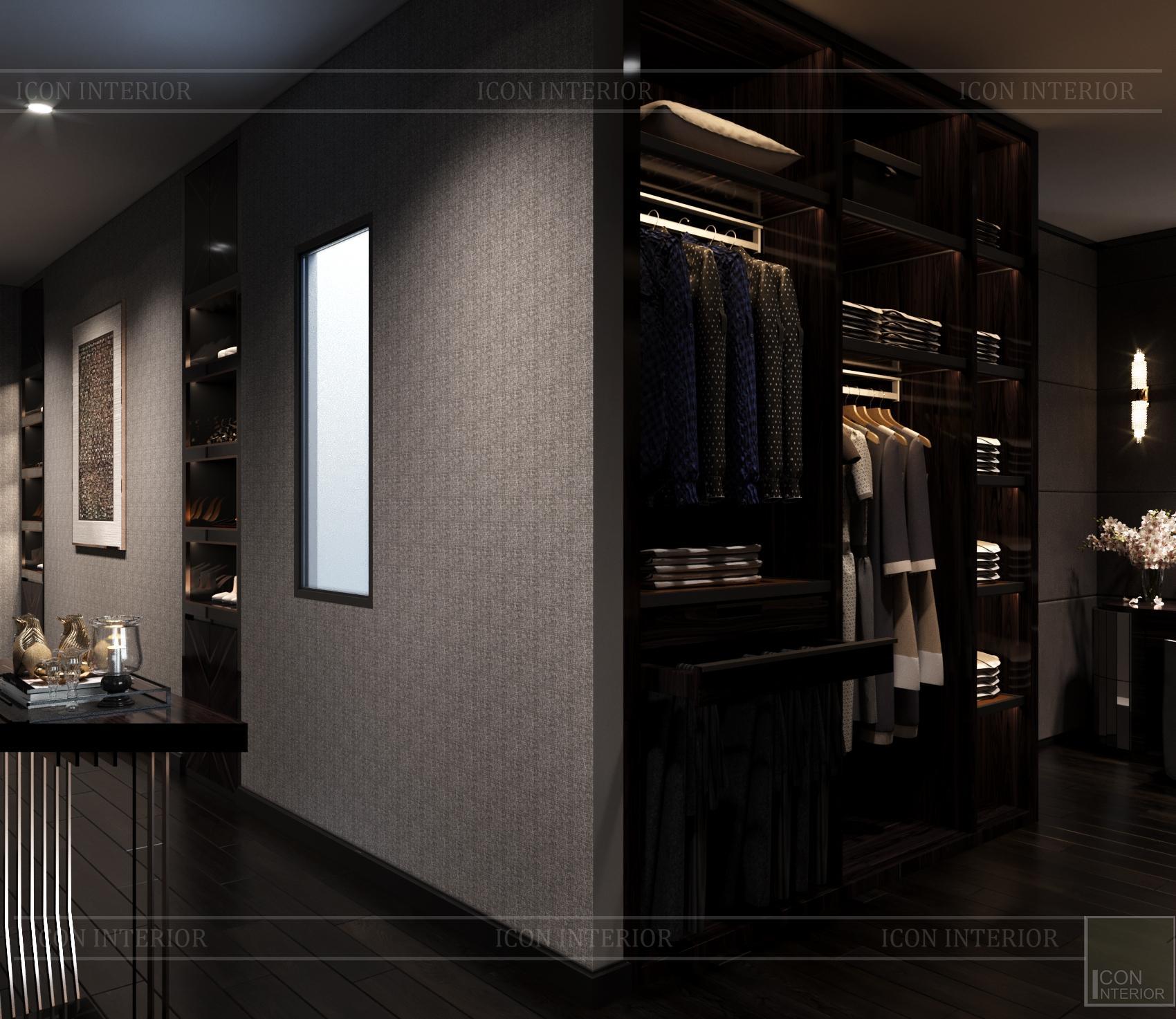 thiết kế căn hộ chung cư - phòng thay đồ
