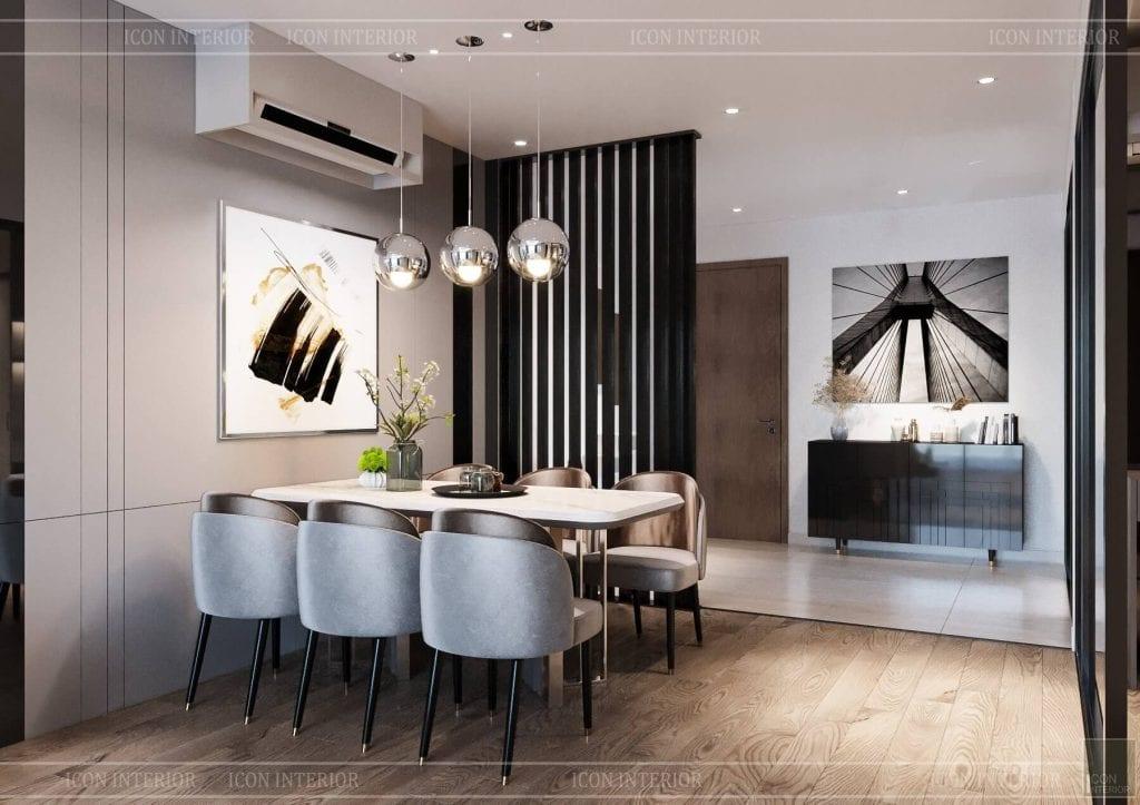 thiết kế nội thất căn hộ đẹp 110m2 hado centrosa