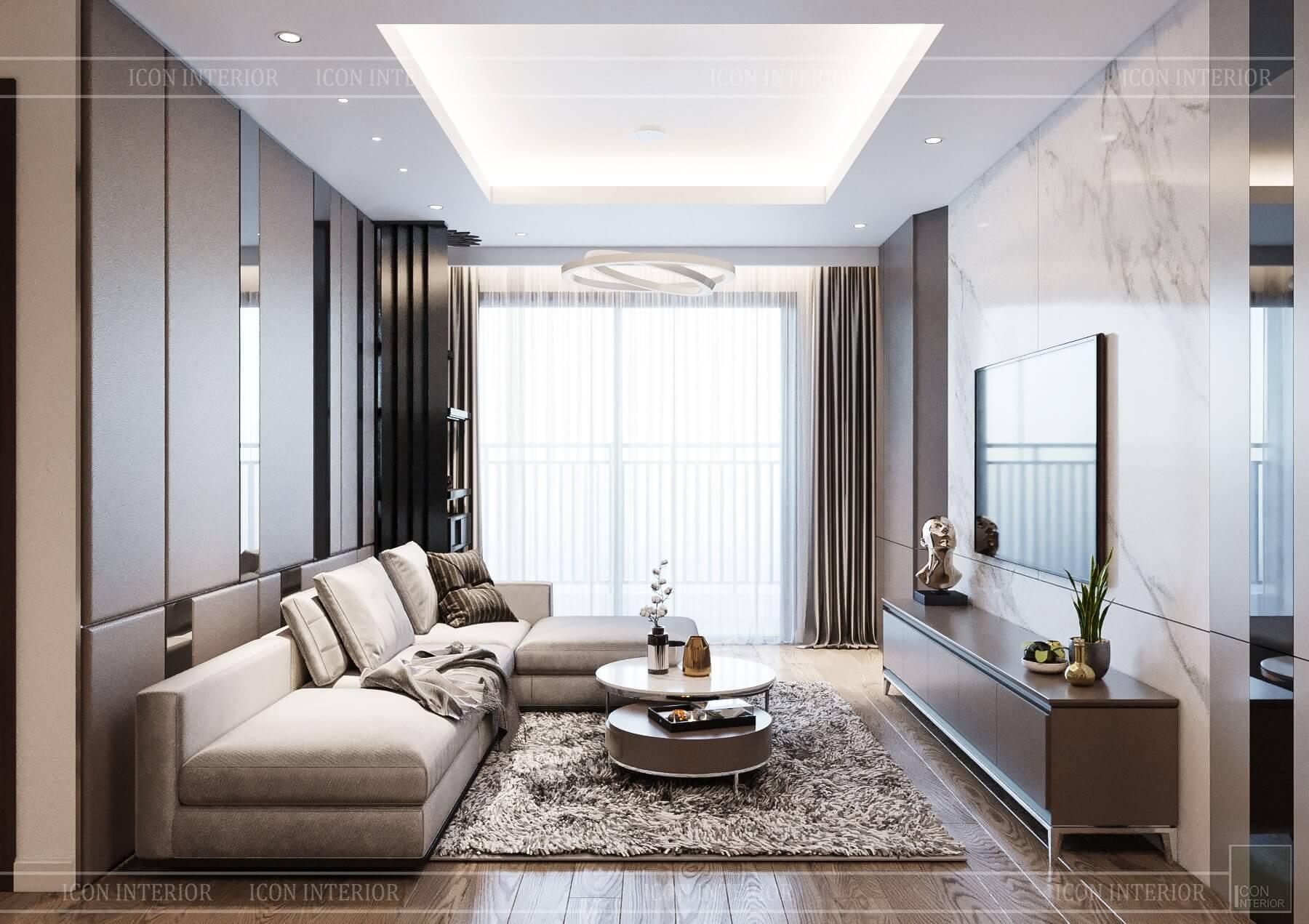 thiết kế căn hộ 110m2 2PN