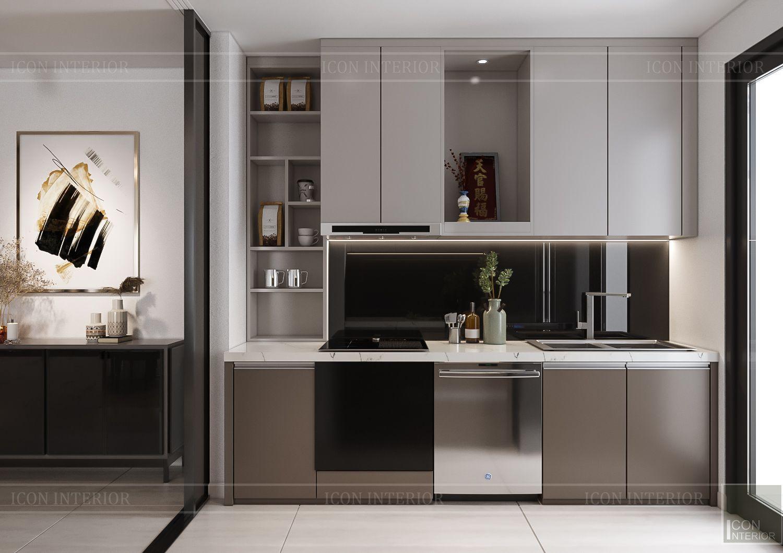 Thiết kế phòng bếp Hà Đô Centrosa tòa Iris 4