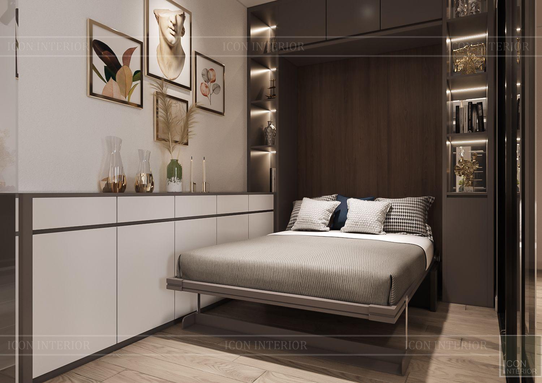 Thiết kế nội thất đẹp giường ngủ thông minh
