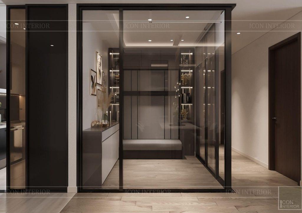 mẫu thiết kế nội thất căn hộ 100m2 phòng đa năng