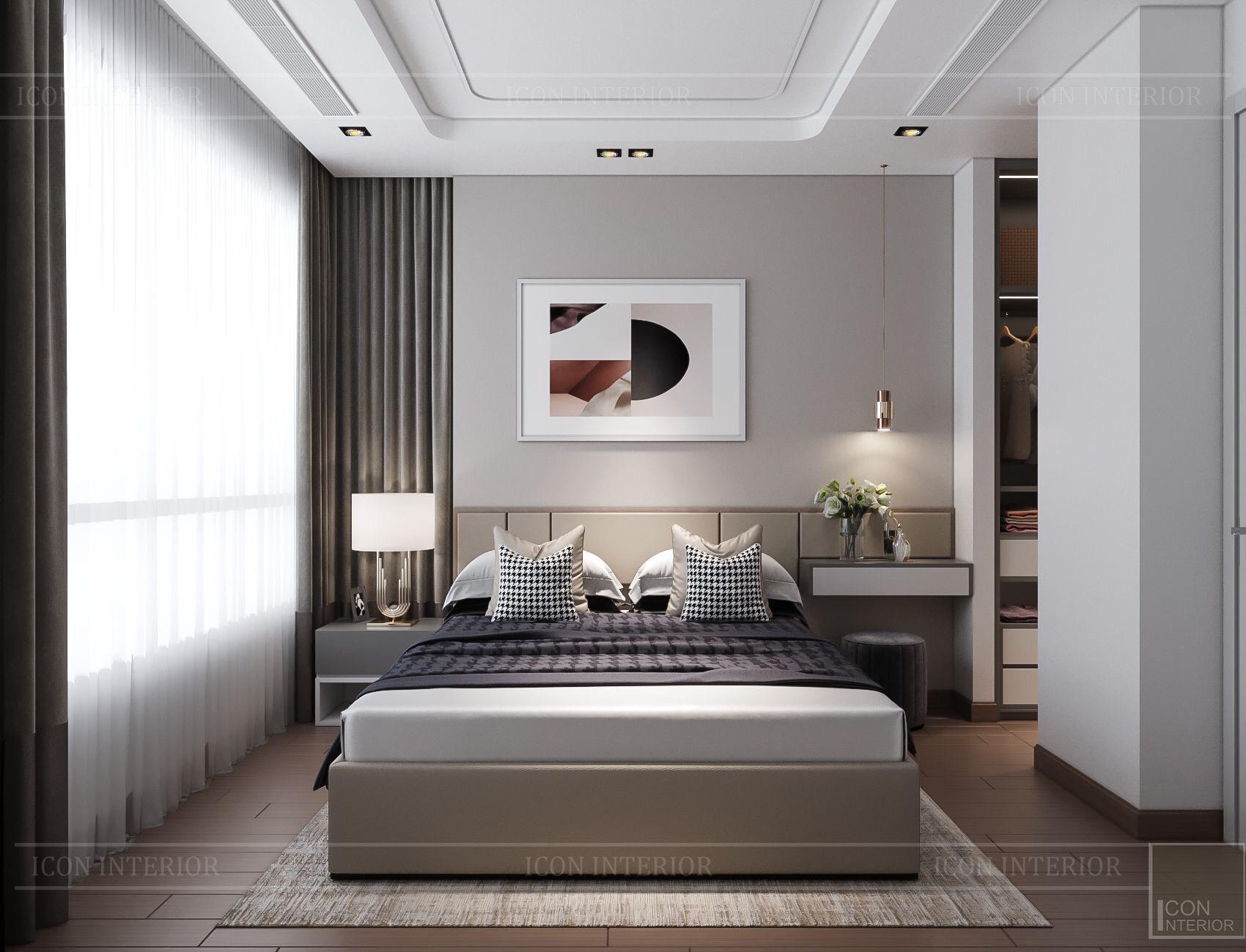 thiết kế nội thất chung cư kingdom 101 - phòng ngủ master