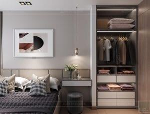 thiết kế nội thất chung cư kingdom 101 - phòng ngủ master 1