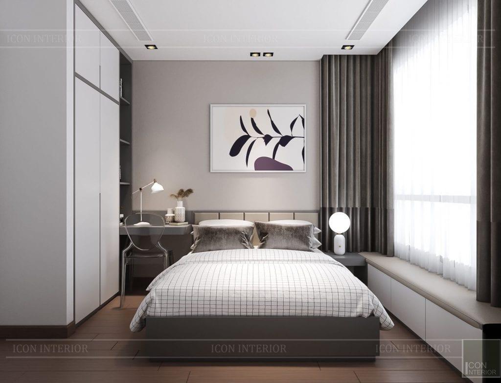 Thiết kế nội thất chung cư 2 phòng ngủ Kingdom 101 - phòng ngủ