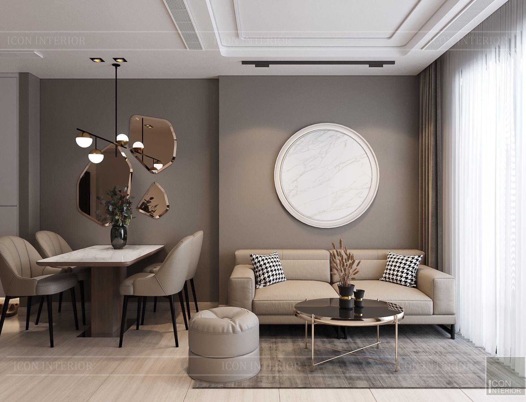 thiết kế nội thất chung cư kingdom 101 - phòng khách