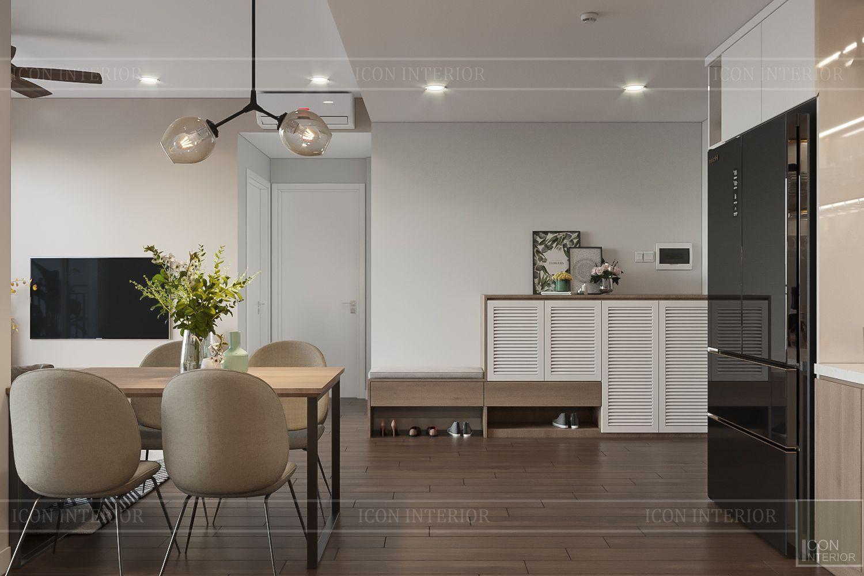 Thiết kế nội thất căn hộ Palm Heights - phòng bếp