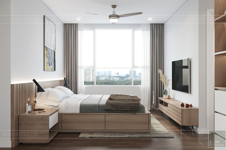 Thiết kế nội thất căn hộ Palm Heights - phòng ngủ