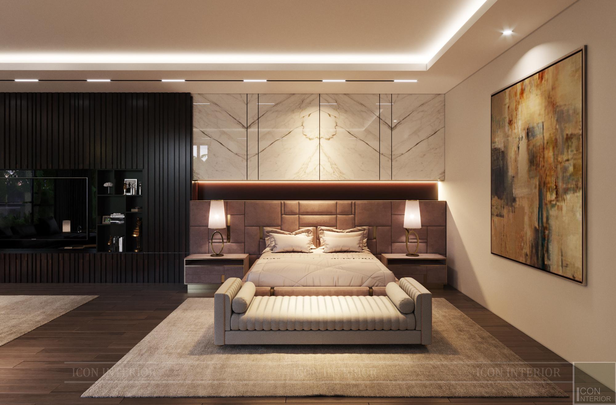 Mẫu biệt thự 2 tầng có hồ bơi đẹp - Phòng ngủ master 2
