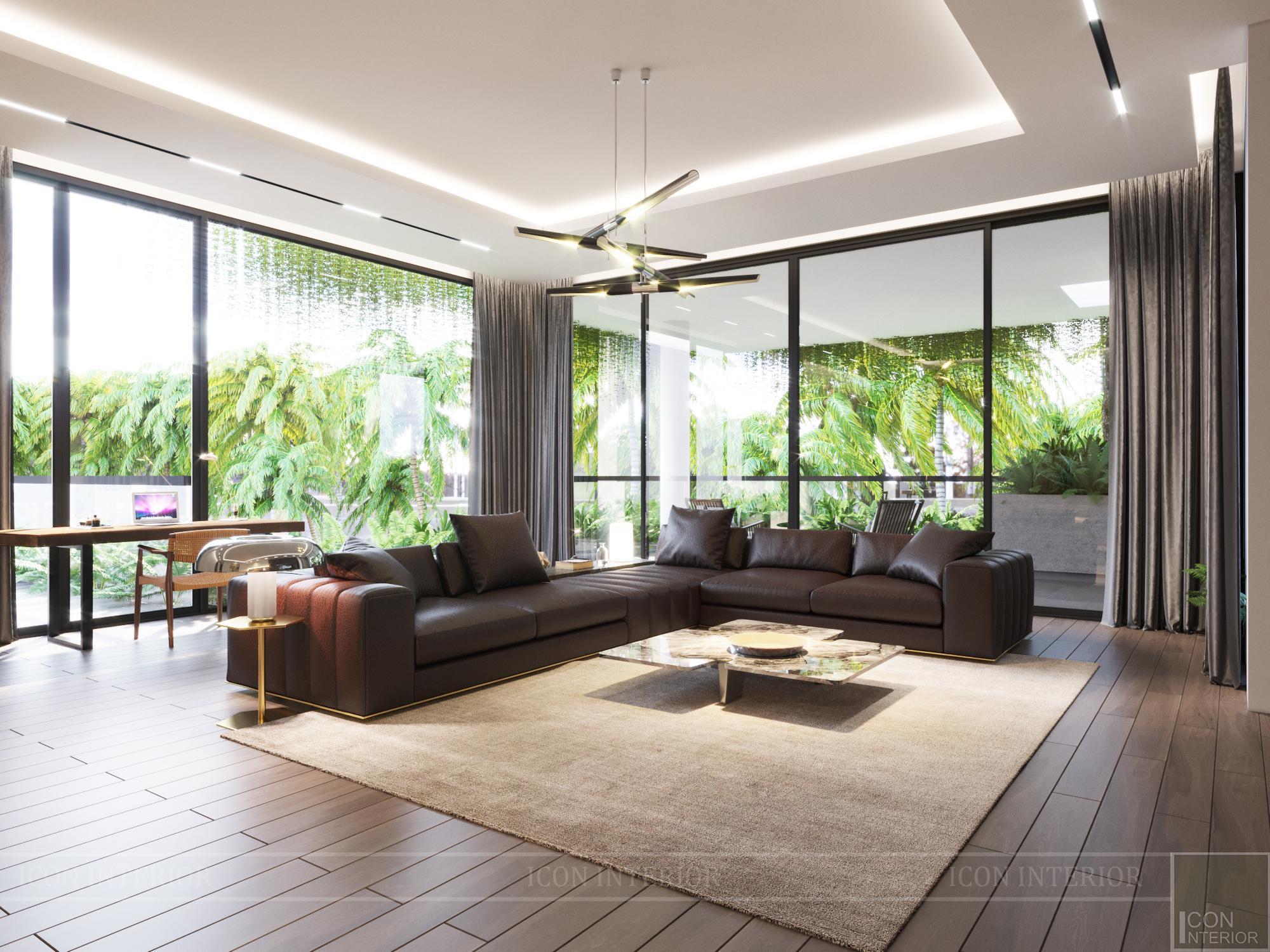 Mẫu biệt thự 2 tầng có hồ bơi đẹp - Phòng ngủ master 3