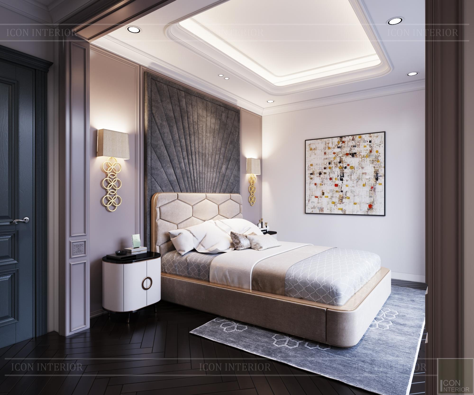 Thiết kế biệt thự 3 tầng sân Golf - phòng ngủ 1