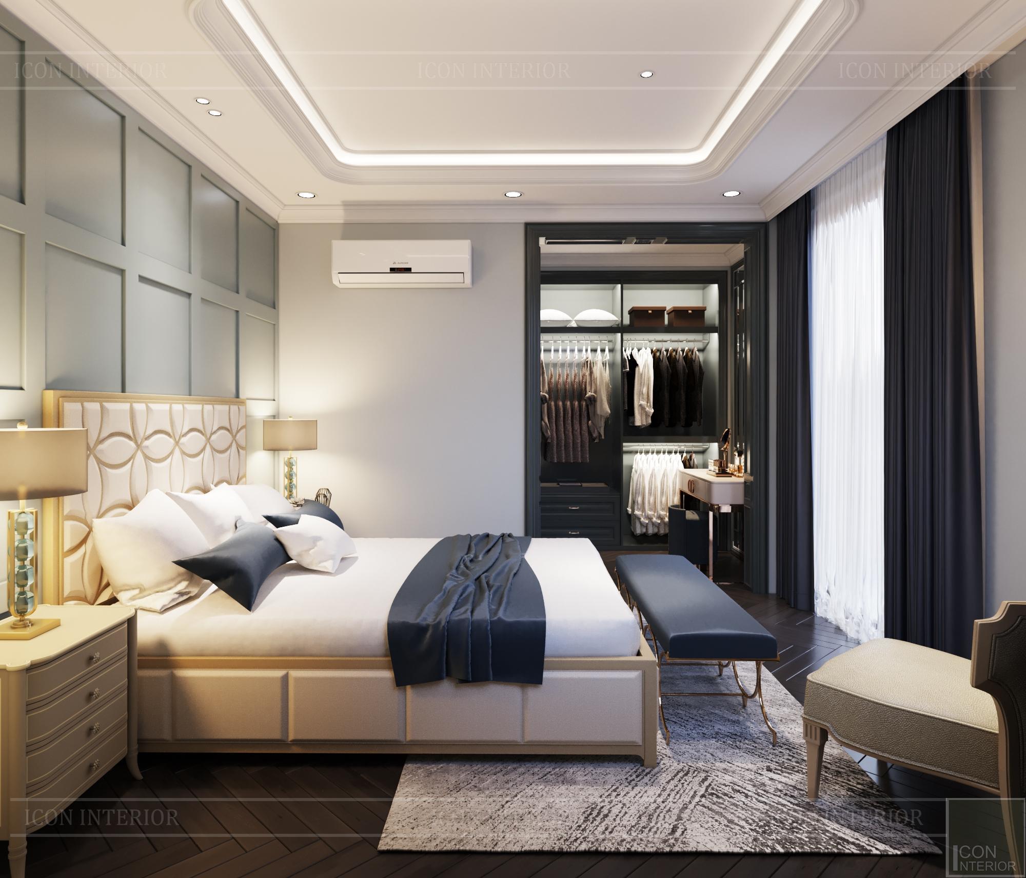Thiết kế biệt thự 3 tầng sân Golf - phòng ngủ 4