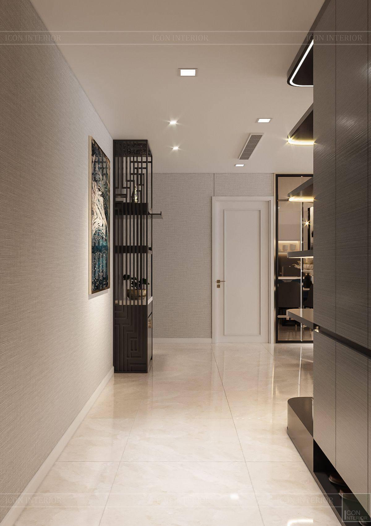 Thiết kế nội thất căn hộ chung cư Vinhomes Ba Son - lối vào