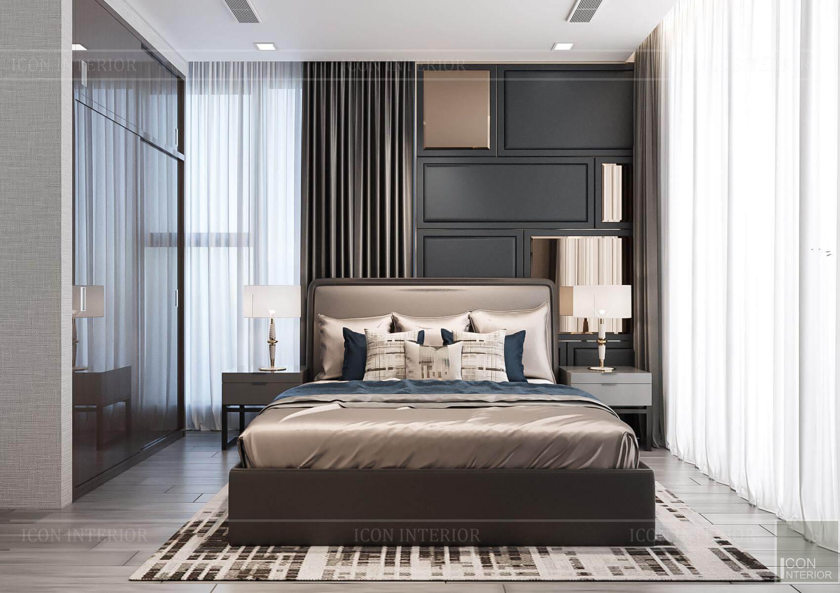 Thiết kế nội thất căn hộ chung cư Vinhomes Ba Son - phòng ngủ