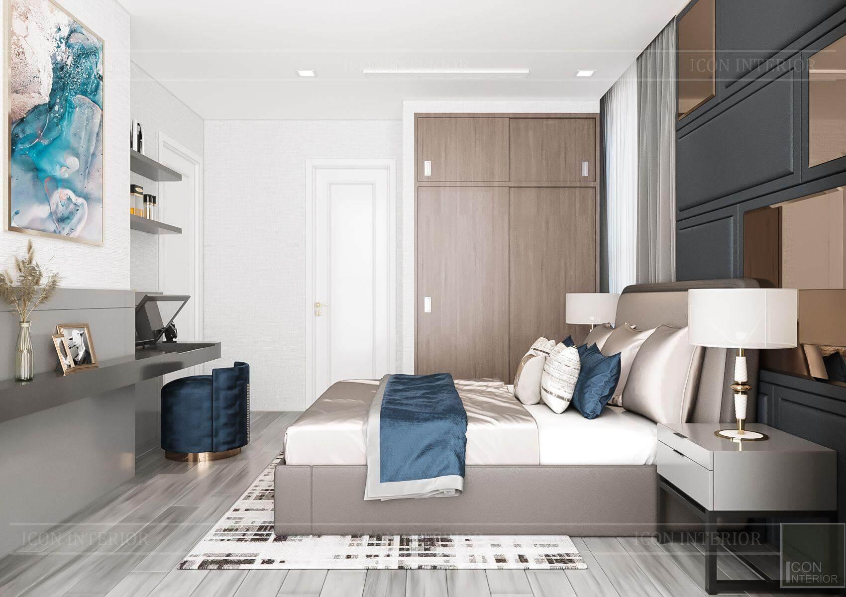 Thiết kế nội thất căn hộ chung cư Vinhomes Ba Son - phòng ngủ đẹp