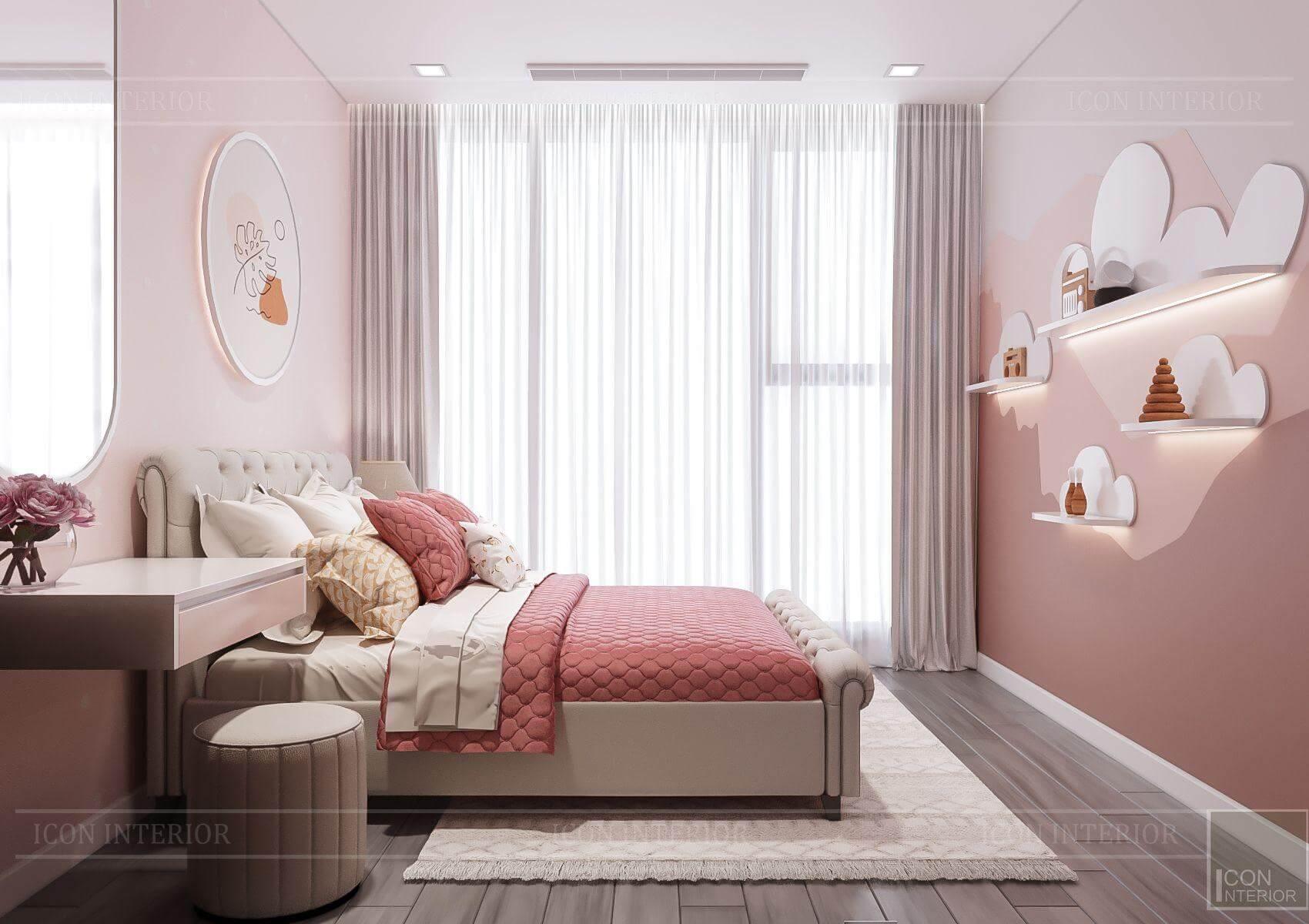 Thiết kế nội thất căn hộ chung cư Vinhomes Ba Son - phòng ngủ bé