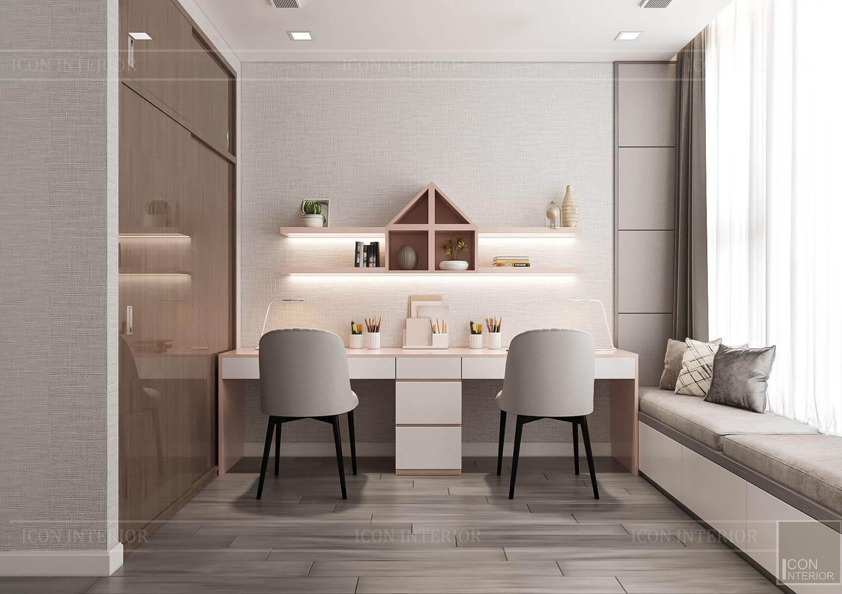 Thiết kế nội thất căn hộ chung cư Vinhomes Ba Son - phòng học tập