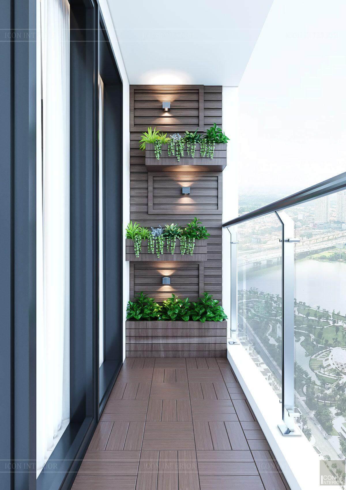 Thiết kế nội thất căn hộ chung cư Vinhomes Ba Son - ban công