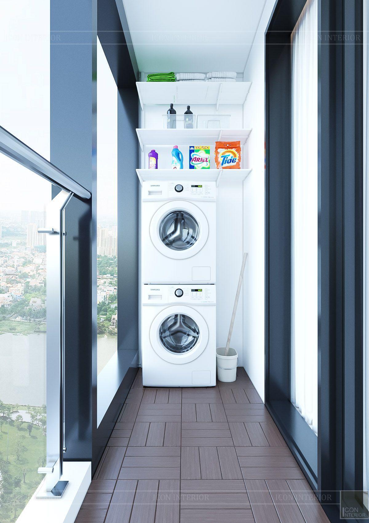 Thiết kế nội thất căn hộ chung cư Vinhomes Ba Son - ban công 2