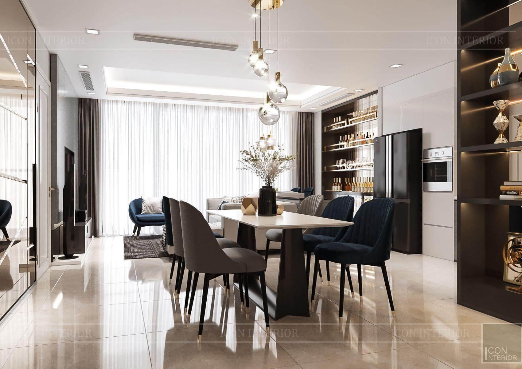 Thiết kế nội thất căn hộ chung cư Vinhomes Ba Son - khu vực bếp