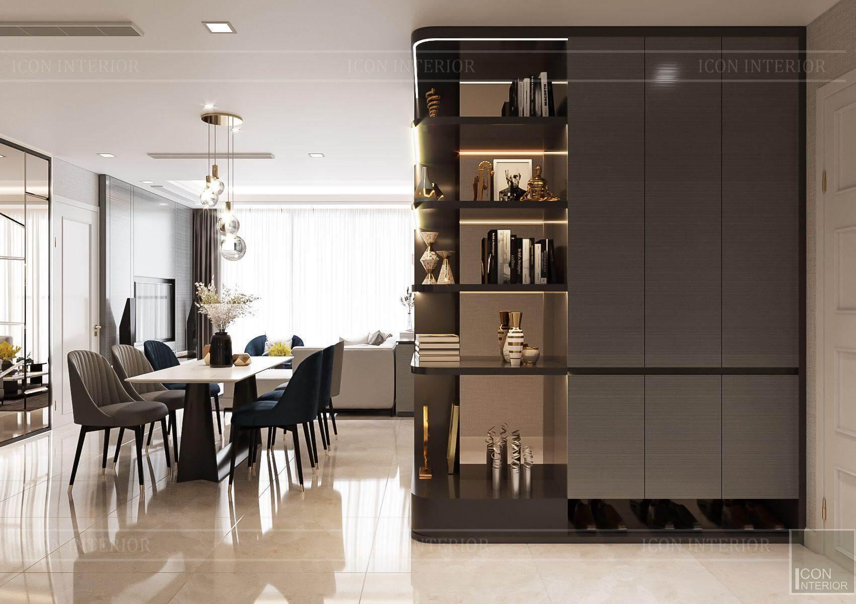 Thiết kế nội thất căn hộ chung cư Vinhomes Ba Son - bàn ăn