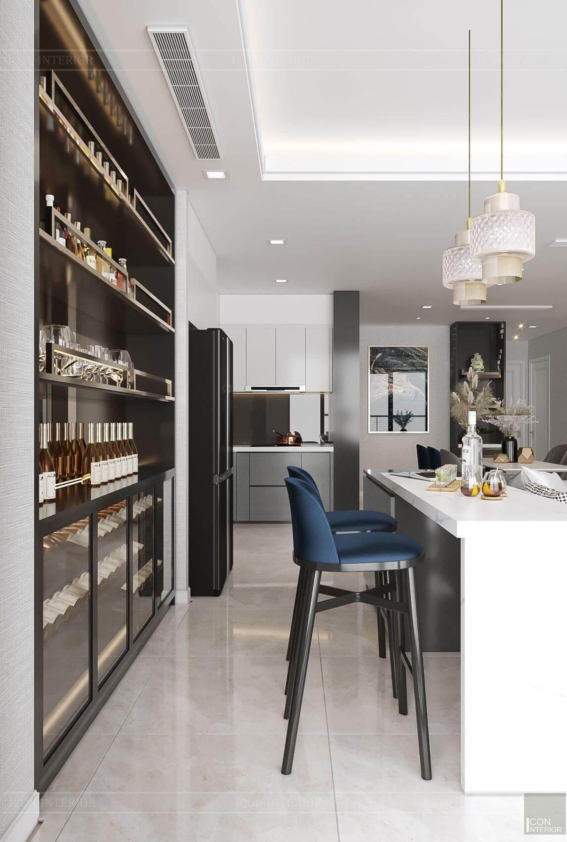 Thiết kế nội thất căn hộ chung cư Vinhomes Ba Son - quầy bar
