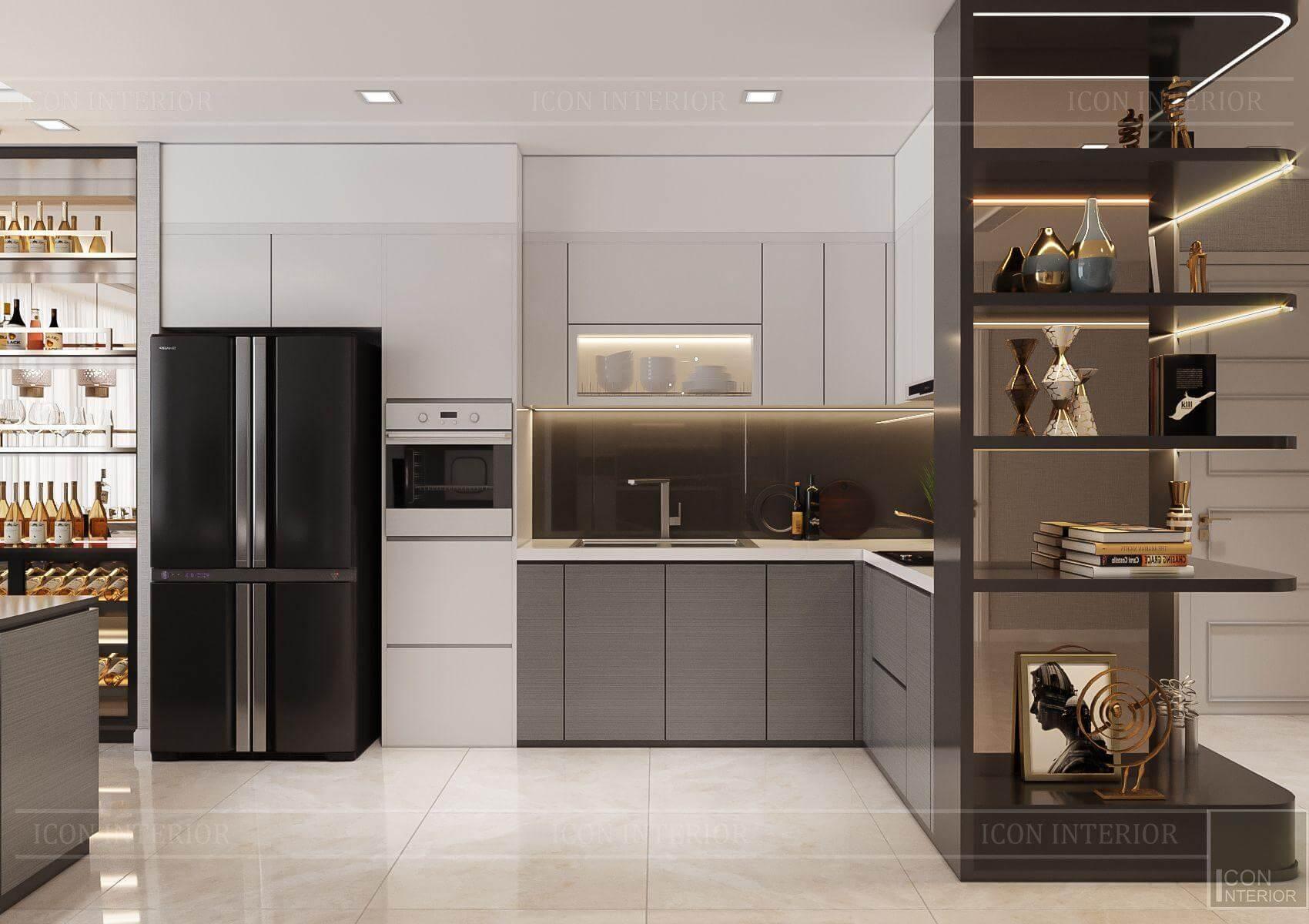 Thiết kế nội thất căn hộ chung cư Vinhomes Ba Son - tủ bếp