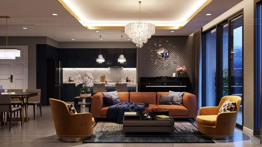 Thiết kế căn hộ Vinhomes Bason - phòng khách