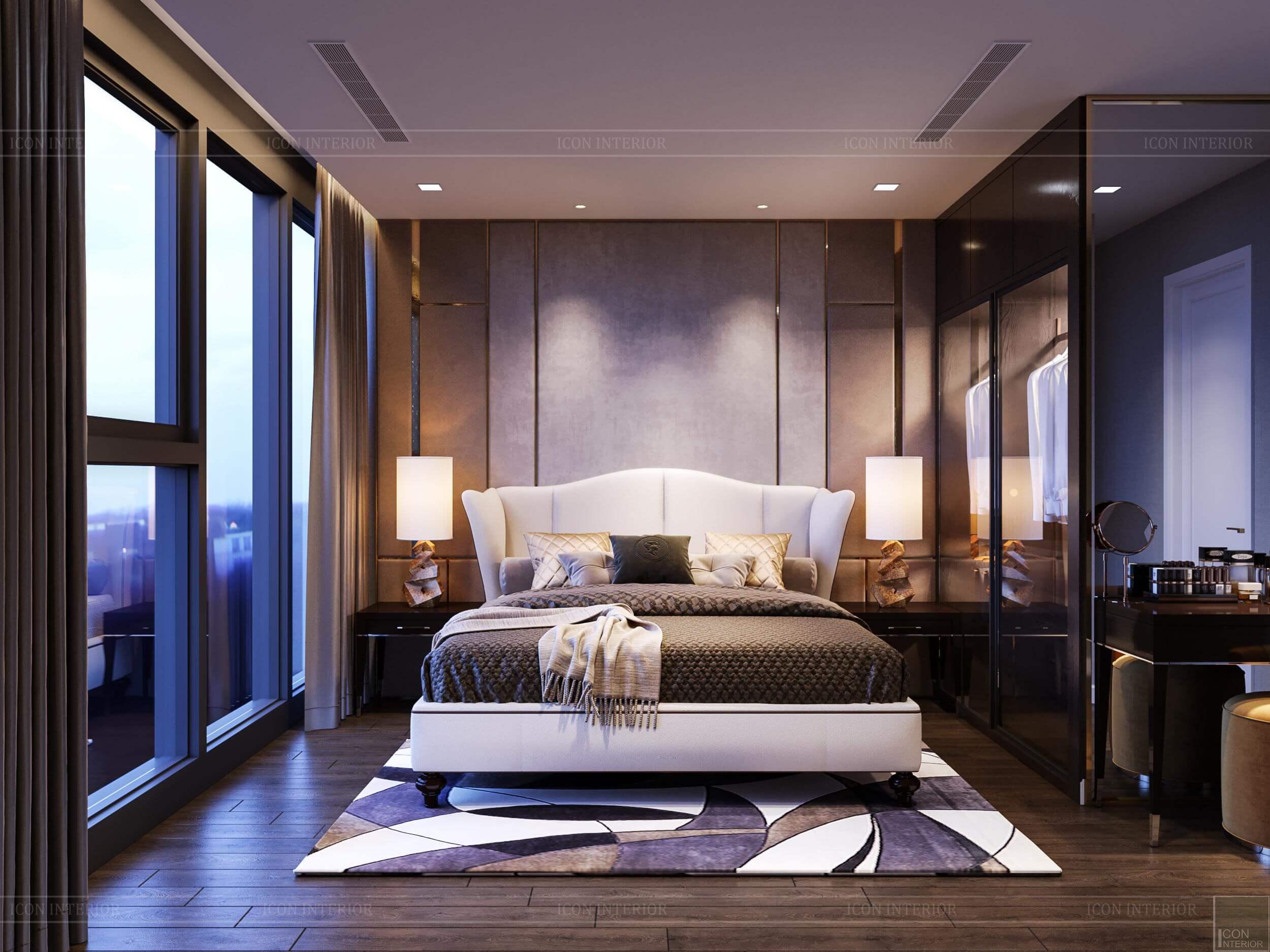 Thiết kế căn hộ Vinhomes Bason - phòng ngủ