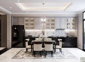 thiết kế biệt thự 2 tầng tân cổ điển - phòng bếp