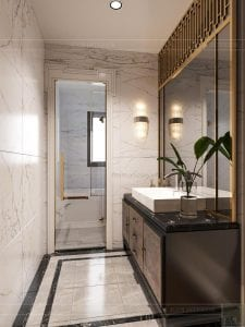thiết kế biệt thự 2 tầng tân cổ điển - phòng tắm master 2