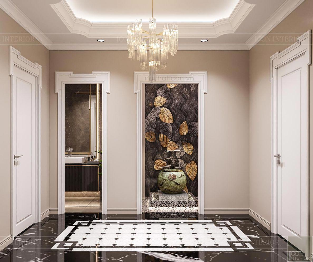 thiết kế biệt thự 2 tầng tân cổ điển - hành lang 1