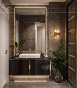 thiết kế biệt thự 2 tầng tân cổ điển - phòng tắm nhỏ 2