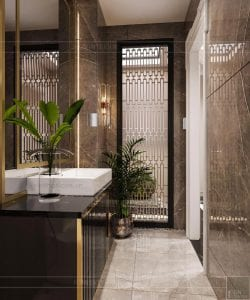 thiết kế biệt thự 2 tầng tân cổ điển - phòng tắm nhỏ 1