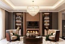 thiết kế biệt thự 2 tầng tân cổ điển - phòng khách 2