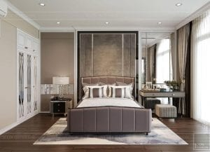 thiết kế biệt thự 2 tầng tân cổ điển - phòng ngủ nhỏ 2